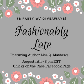 PARTY ON FB! – Friday, Aug. 11 – 8 pm EST