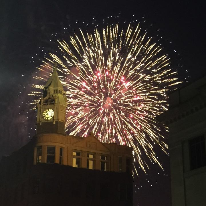 Clock Tower fireworks