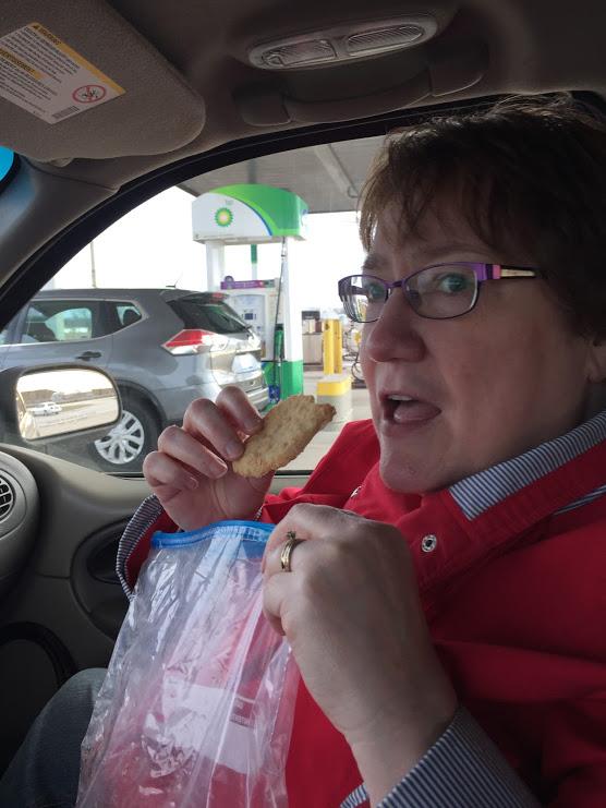 Cookie Bite in car