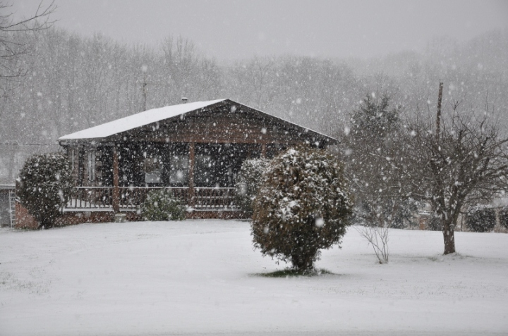 my snowy cabin