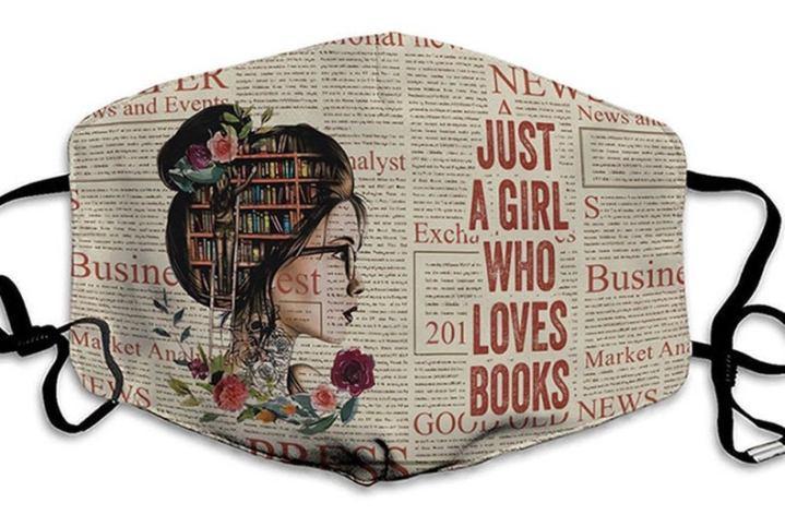 Girl who loves books facemask