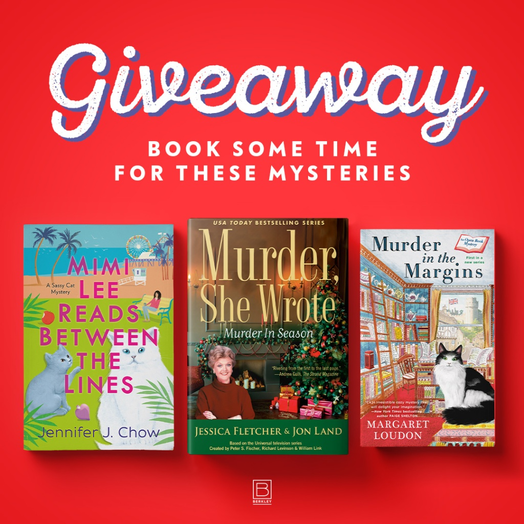 "Giveaway called ""Book Some Time For These Mysteries"""