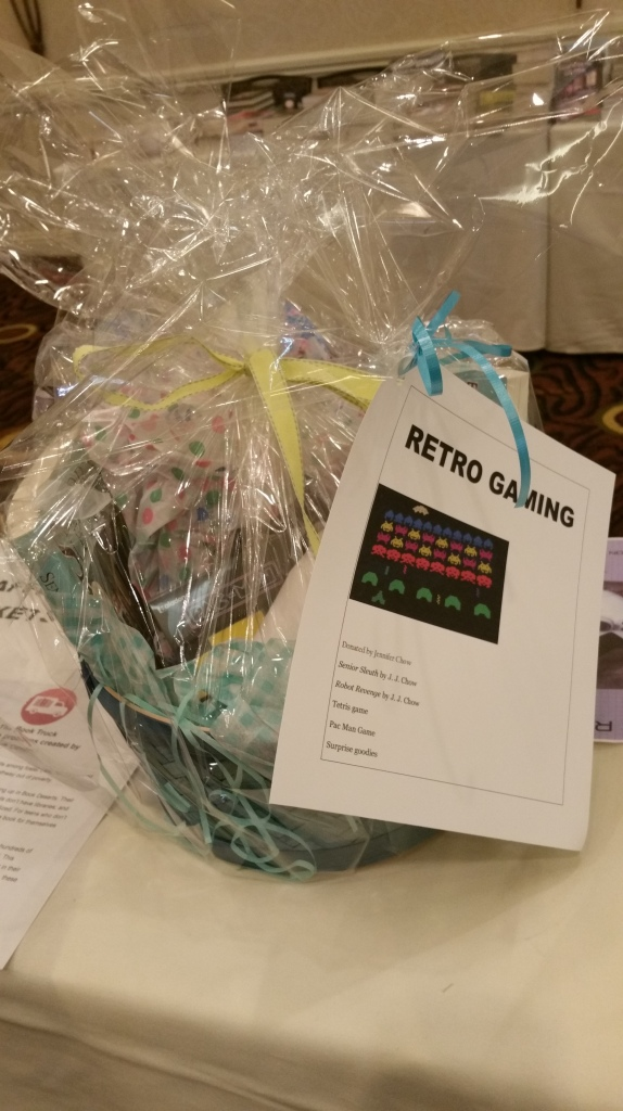 Retro gaming gift basket