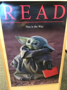 "Baby Yoda poster with caption: ""Read: This is the Way."""