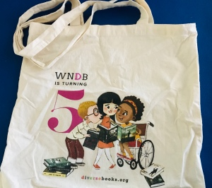 We Need Diverse Books 5th anniversary tote bag