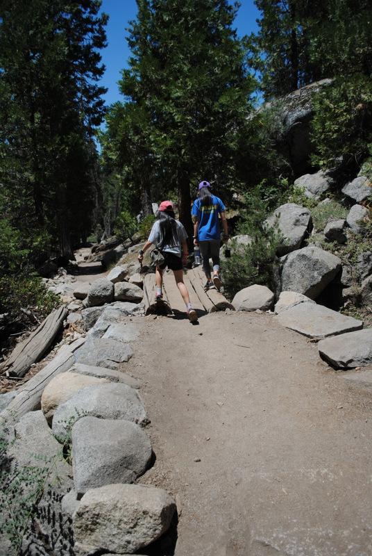 Kids going hiking